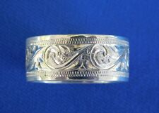 NATIVE AMERICAN NAVAJO STERLING SILVER CARVED RING SIZE  13   BY SHANE HENDREN