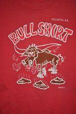 Vintage 70s Soft Red Cotton T Shirt Bullshirt Atlanta, GA by Tropix Togs