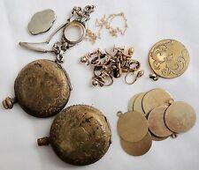 101gr Gold Filled Scrap Parts-Retro/Art Deco/Victorian Era-Pocket Watch Cases