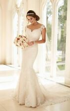 Plunging Mermaid & Trumpet Cap Sleeve Wedding Dresses