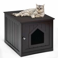 Weatherproof Multi-function Pet Cat House Indoor Outdoor Sidetable Nightstand