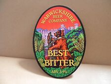 Warwickshire Beer Company Best Bitter Ale Beer bar Pump Clip collectible
