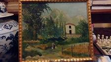 pittura napoletana del  900 olio su compensato m.37x33