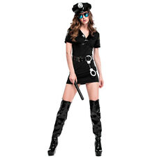 Sexy Police Women Costume Cop Officer Cosplay Uniform Fancy Dress Up Outfi