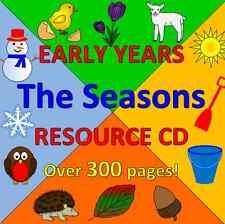 SEASONS- Spring, Summer, Autumn, Winter- Childminding resources on CD, EYFS,