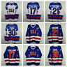 Ice Hockey Jersey Vintage 1980 Miracle on Ice Team USA 17# 21# 30# Blue White