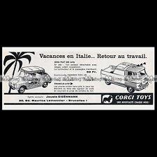 CORGI TOYS 1963 GHIA FIAT 600 Jolly 240 COMMER Pick-Up 465 Pub Publicité Ad #E44