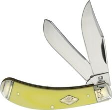 Bow Trapper pocket knife Classic Carbon Steel Blades Yellow Handle Free Shipping