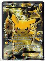 POKEMON TCG: PIKACHU EX XY124 - FULL ART HOLO CARD BLACK STAR PROMO ULTRA RARE