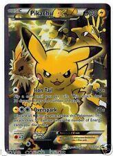 POKEMON TCG: PIKACHU EX XY124 - FULL ART HOLO CARD BLACK STAR PROMO ULTRA RARE