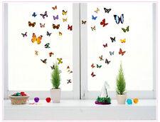 Colorful 80 transperent butterfly wall stickers mural art décoration d'intérieur uk