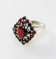 9927653 925er Silber Ring Granat Gr.55/56