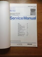 Philips TAPC-Stack F1422 Stereo Stack Music Centre Vintage Service Manual