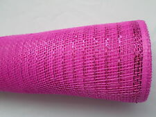 Fuchsia Pink Deco Mesh with a Pink Metallic Thread