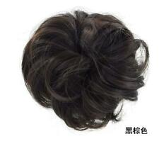 LARGE THICK Curly Chignon Messy Curly Bun Updo No Clip in Hair Piece Extensions