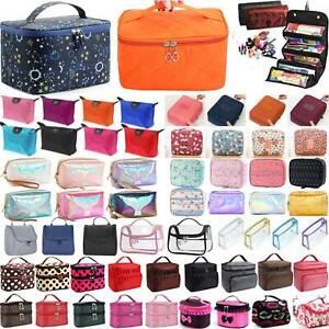 Women Girls Big Makeup Bag Vanity Case Travel Zipper Cosmetic Beauty Organizer