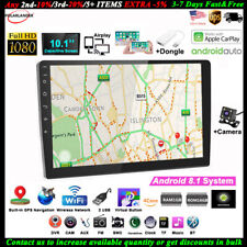 10''2 Din GPS Android Car Radio Airplay+Carplay+CAM Mirror Link FM Wifi Touch BT