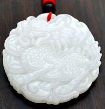 """Wunderschöner Jade-Anhänger """"Qilin"""" Kirin mit 68cm Halskette Unikat Amulett"""