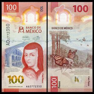 Mexico 100 Pesos, 2020, P-New, IBNS Award, Vertical, Polymer, Banknotes, UNC
