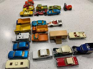Matchbox Lesney Vintage Cars Bulk Lot 25 Pieces 1970 To 1980