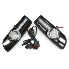 Car GRILLE With FOG Light LED& Wiring Fit FOR VW JETTA BORA 99-04 With DRL
