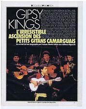 COUPURE DE PRESSE CLIPPING 1990 GIPSY KING l'ascension des petits gitans 8 pages