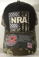 Buckwear Hunting NRA Digi Camo Camouflage USA Flag Adjustable Hat Nwt