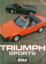 Triumph Sports 1924-1980 Southern Cross 7 Gloria Dolomite TRs GT6 Spitfire Stag