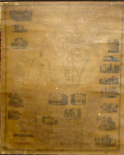 E.M. Woodford MAP OF WINCHESTER, LITCHFIELD COUNTY CT 1852 Very Good 47x37