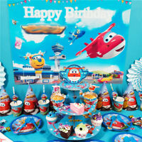 Super Wings Birthday Party Supplies Loot Bag Filler Tableware Plates Decoration