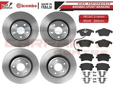 FOR AUDI A4 B8 A5 FRONT REAR GENUINE OEM BREMBO BRAKE DISCS PADS SET 314mm 300mm