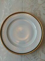 """Johann Seltmann Weiden Polonaise Green Gold Rim 10.5"""" Dinner Plate Bavaria"""
