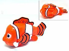 Clockwork Wind Up Fins Swing Wheeled Clown Fish Kids Fun Toy Party Bag Filler