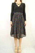 VINTAGE 70s Handmade Polka Dot Skirt Size XS 8-10