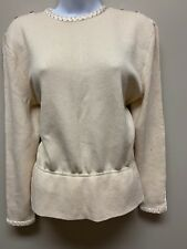 St John Sweater Bedazzled Women's Size 14 Buttons