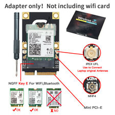 Wireless M.2 NGFF WiFi Card to Mini PCI-E Adapter Converter for AX200 BCM94360NG
