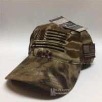 Thin Green Line Flag KRYPTEK HIGHLANDER USA Cap Military Support Veteran