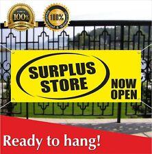 Surplus Store Now Open Banner Vinyl / Mesh Banner Sign Grand Opening New Store