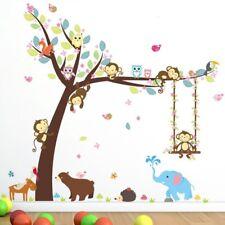 Kinderzimmer Wandtattoo XXL Tiere Elefant Baum Wandsticker Junge Mädchen Bilder