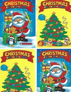 12 A6 SIZE CHRISTMAS COLOURING  BOOKS 2 DESIGNS 6 OF EACH IDEAL-PARTY BAGS-GIFT