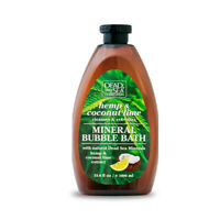 Hemp & Coconut Lime Bubble Bath with Natural Dead Sea Minerals 1000 ml