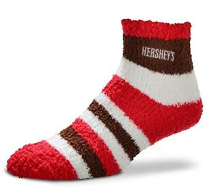 HERSHEY'S CANDY SLEEP SOCKS Rainbow Stripe Fuzzy