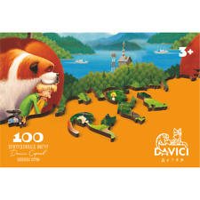 """wooden puzzle davici """"Once upon a summer time"""" 100pcs jigsaw for kids"""