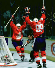 Wayne Gretzky Mario Lemieux 1987 Canada Cup WINNING GOAL Premium POSTER Print
