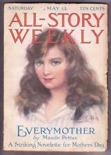 """Pulp magazine ALL-STORY WEEKLY May 13, 1916 - A Maude Pettus """"different"""" story"""
