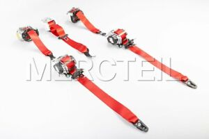 Mercedes-Benz Genuine AMG front & rear Red Seat Belts for C-Class W205