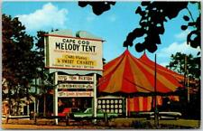 """Hyannis Cape Cod Mass. Postcard MELODY TENT """"Sweet Charity"""" on Marquee - 1970"""
