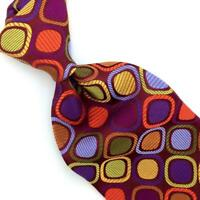 Robert Talbott Tie Best Of Class Bold Red Gold Lime Squares Luxury Ties L5 New