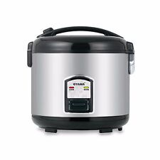Oyama 10-Cup Stainless Steel Electric Home Cooker Rice Warmer Food Steamer Black