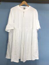 Asos maternity Vestido Super De Gran Tamaño UK16-blanca-nueva